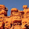 Goblin Valley State Park, UT. If you look closely, you will see that many of these goblin rock formations are smiling at those that pass by.<br /> From deposits laid approx. 170 million years ago, Goblin Valley State Park has been sculpted by forces of nature by the forces of wind and water.  The goblins are made of Entrada sandstone which shows evidence of being near an ancient sea millions of years ago. The edges of the sandstone weather more quickly producing spherical-shaped goblins.