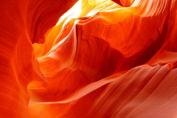 """""""Twisted Light"""".  Lower Antelope Canyon, Page, AZ."""