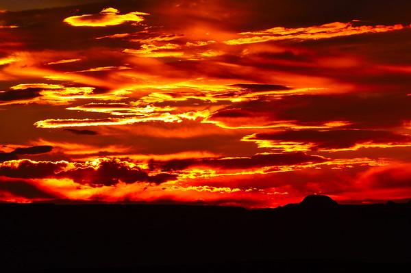 """""""Liquid Fire"""".  Sunset overlook at Lake Powell, AZ."""