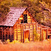 """Abandoned"".  Old rustic barn off HWY 12 on Boulder Mt., Utah."