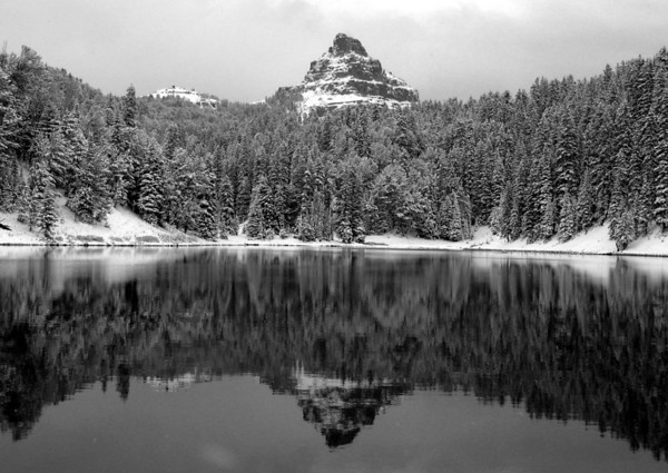 Wind River Lake, after a fresh snow storm, outside Jackson Hole, WY
