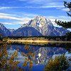 Reflections on Jenny Lake overlooking Grand Teton National Park.