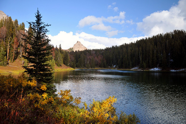 Wind River Lake in the Fall, WY