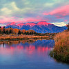 """Cotton Candy Sunrise"".  Schwabacher's Landing, Grand Teton National Park, WY.  10/11"