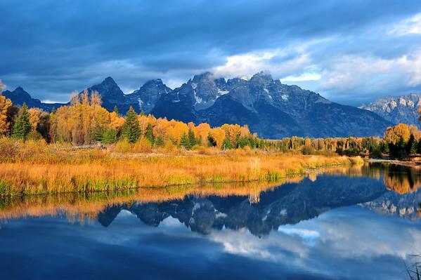 """Schwabacher's Landing Sunrise"".  Grand Teton National Park, WY. 10/11"