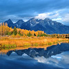 """Schwabacher's Landing Sunrise"".  Grand Teton National Park, WY. 10/11"