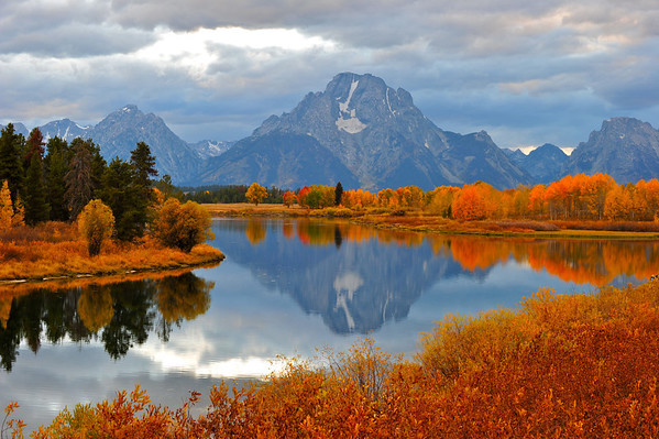 """Oxbow Bend in Autumn"".  Grand Teton National Park, WY. 10/11"