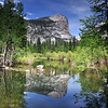 Reflections at Mirror Lake, springtime in Yosemite National Park.