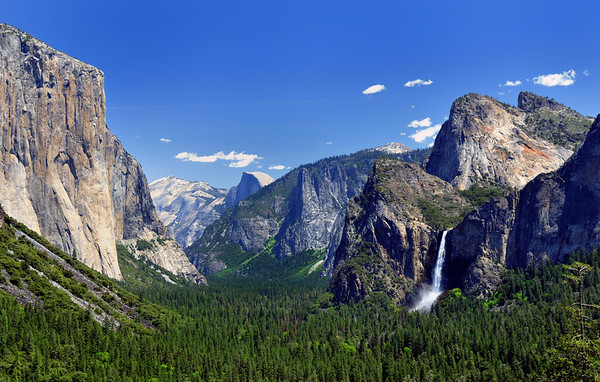 """""""Springtime at Tunnel View"""".  Yosemite National Park."""