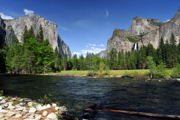 "Springtime at ""Valley View"" at the Merced River, Yosemite."