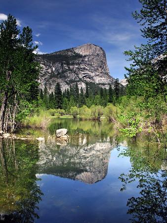 Mirror Lake in all it's glory, springtime in Yosemite. Yosemite National Park.