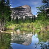 Mirror Lake in all it's glory, springtime in Yosemite. Yosemite National Park.