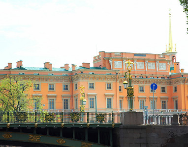 Street Scene from the Canal St. Petersburg, Russia