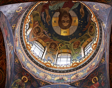 Dome of the Church of Spilt Blood St. Petersburg, Russia