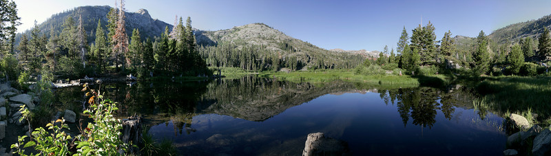 Panoramic view of GlennAlpine Lake