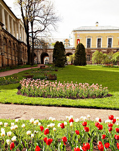 Flowers at Catherines Palace St Petersburg Russia