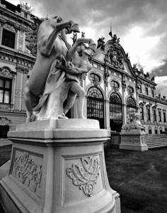 Belvedere  Vienna Austria on a stormy day