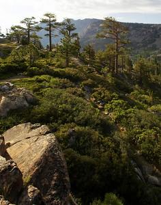 Trail views Desolation Valley Sierra Nevada California