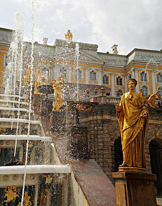 Fountains at Peterhof St. Petersburg, Russia