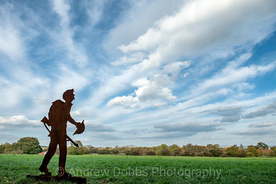 'Hope Returns' - one of the silhouette figures installed around Ripon for this year's Remembrance