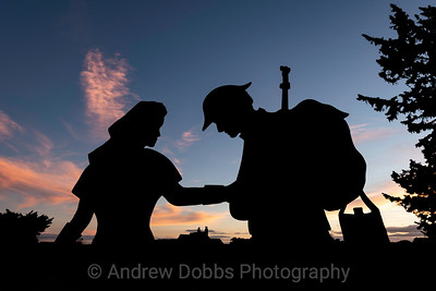 'Nellie and Blind John' - two of the silhouettes installed around Ripon for this year's Remembrance