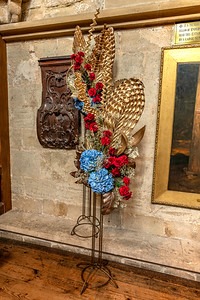 Flower display in Ripon Cathedral celebrating the Royal Air Force Association for this year's Remembrance
