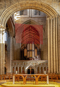 Cascade of poppies in Ripon Cathedral for this year's Remembrance