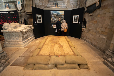 'Fields of Mud, Seeds of Hope' display in Ripon Cathedral for this year's Remembrance