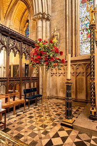 Poppies and barbed wire - one of the wonderful flower displays in Ripon Cathedral for this year's Remembrance