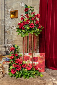 Poppy arrangement in Ripon Cathedral