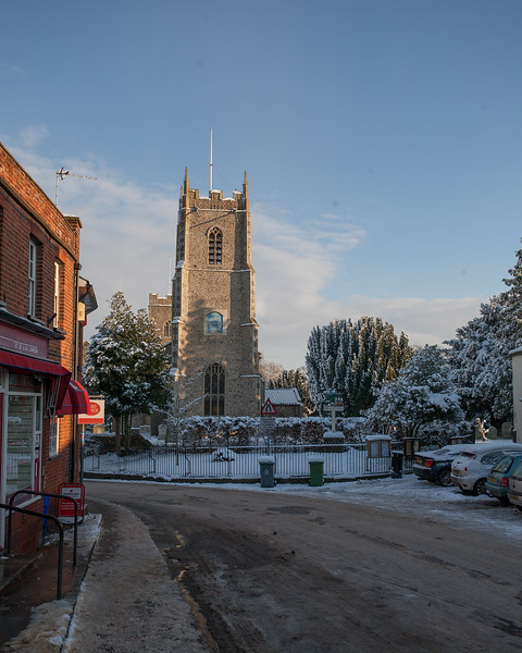 Brrr!  Winter scenes around the town