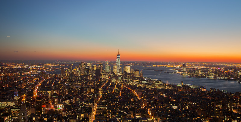 Sunset from the Empire State Building