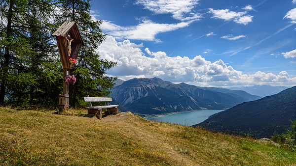 Bench on the Reschen Alp