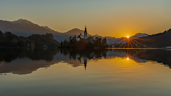 Lake Bled Island at Sunrise
