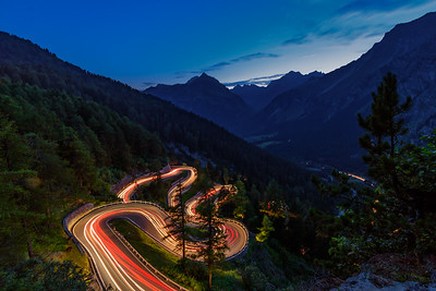 Road to Maloja Moutain Pass