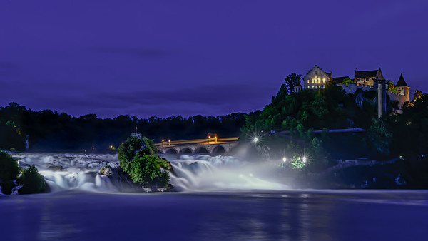 Rhine Waterfall at Dusk