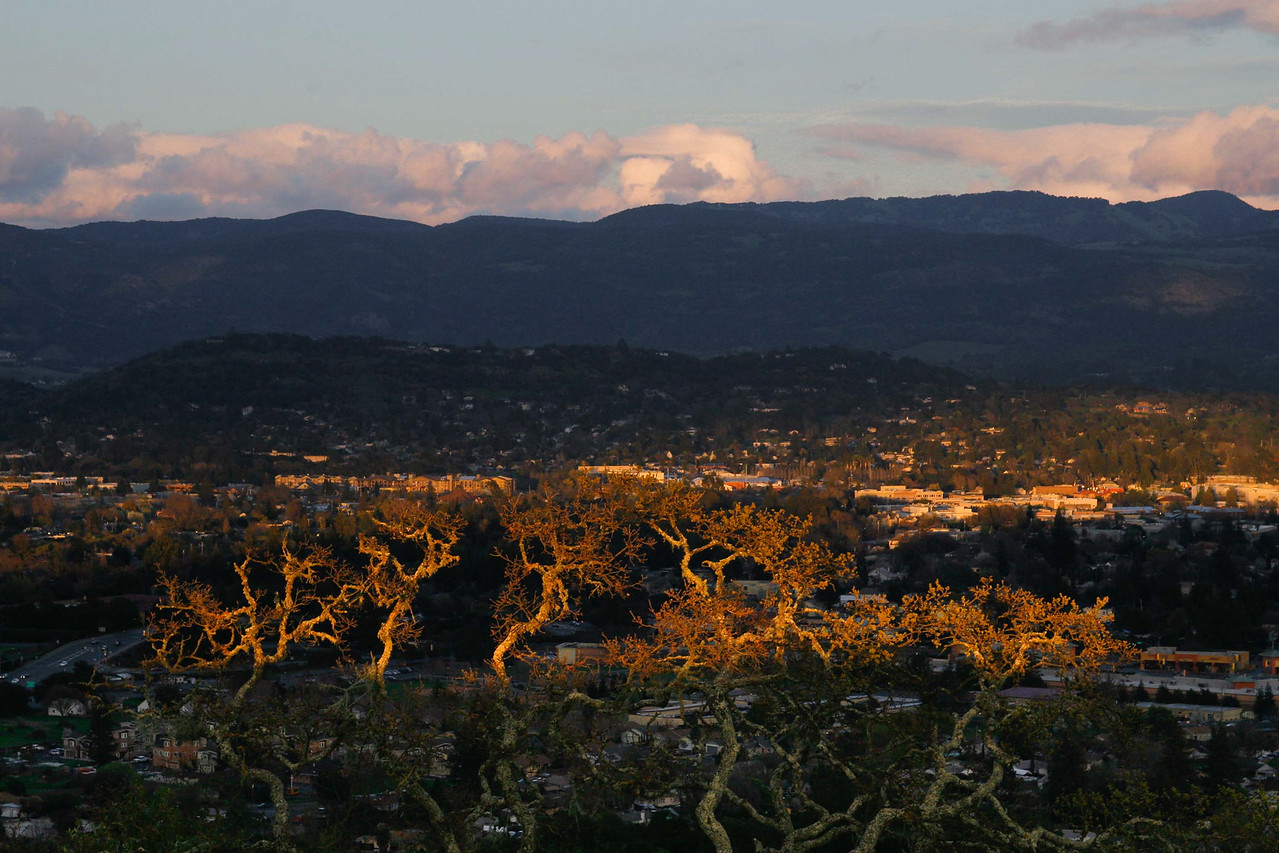 Sunset over Napa City