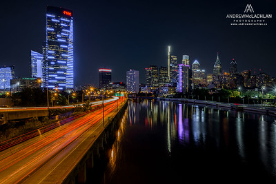 South Street Bridge over the Schuylkill River in Philadelphia, Pennsylvannia