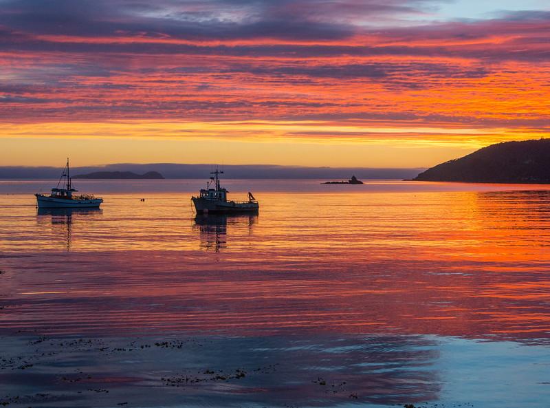 Sunrise over the Foveaux Strait