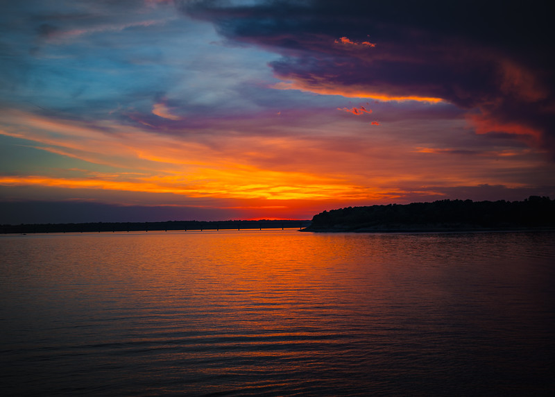 Sunset at Saylorville Lake, Iowa