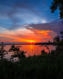 Sunset at Saylorville Lake, Iowa