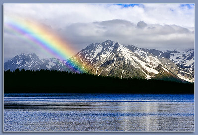 Rainbow over Jackson Lake in the Grand Tetons