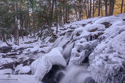 Potts Creek in winter, Bracebridge, Ontario, Canada