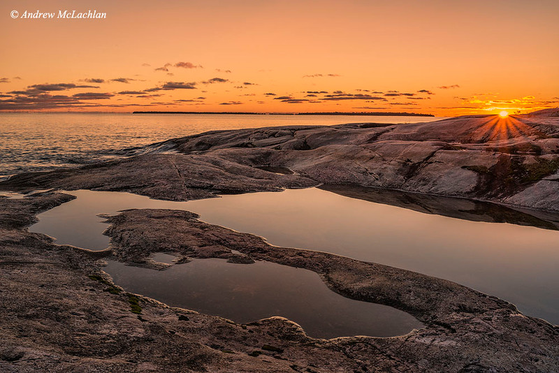 Sunset at Kathwerine Cove on Lake Superior