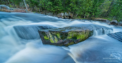 Lower Rosseau Falls on the Rosseau River, Muskoka, Ontario, Canada