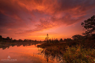 Sunrise over Highland Pond at the Torrance Barrens, Muskoka, Ontario, Canada