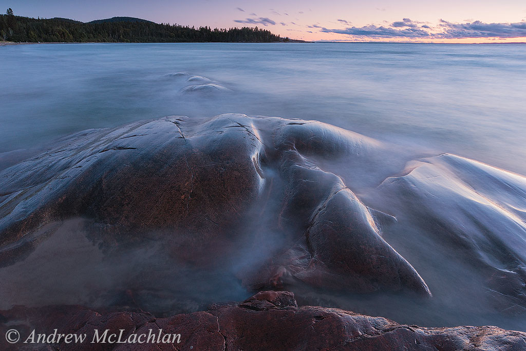 Sunset on Lake Superior at Neys Provincial Park