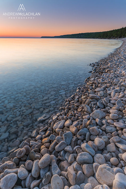 Sunrise at Halfway Log Dump, Bruce Peninsula National Park, Ontario, Canada