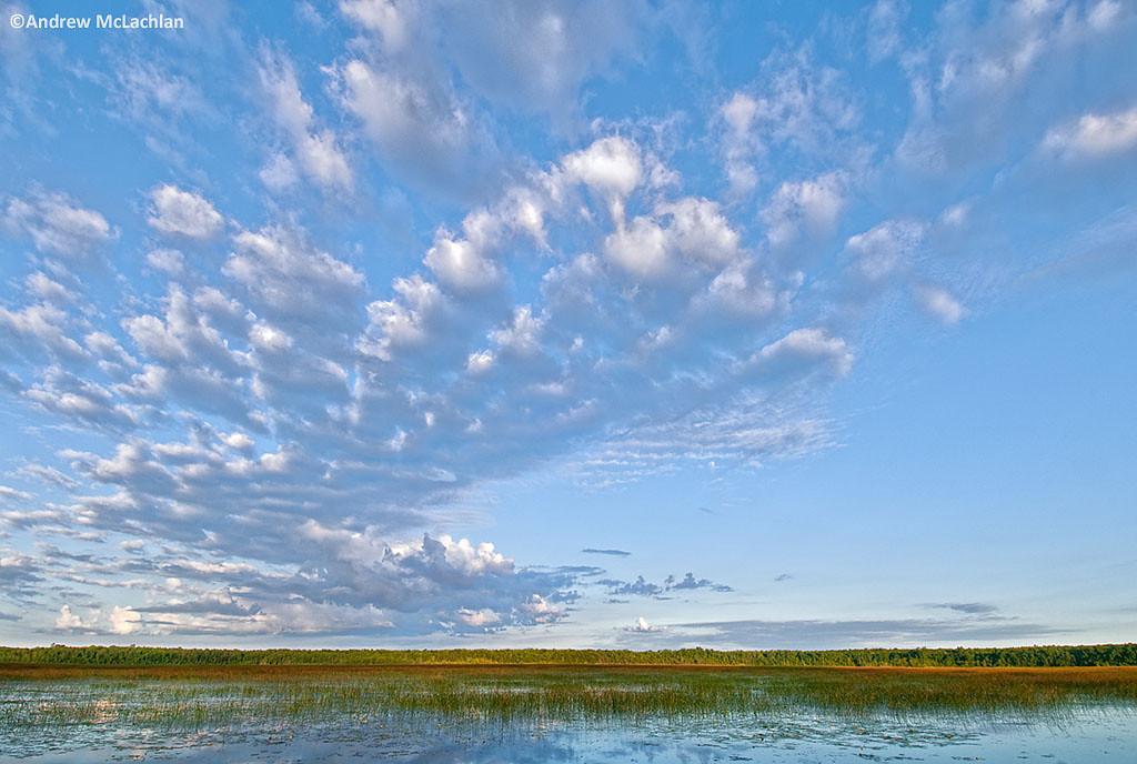 Clouds over Tiny Marsh inTiny Marsh Provincial Wildlife Area, Elmvale, Ontario