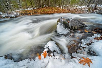 Thunder Creek in Winter, Parry Sound, Ontario, Canada